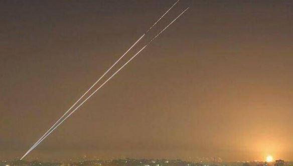 اطلاق صاروخ من غزة باتجاه شاطئ اسدود