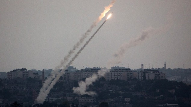 إطلاق صاروخين من غزة علي اسرائيل