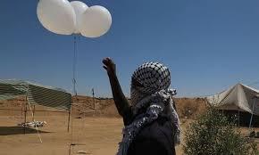 غلاف غزة يشتعل البالونات الحارقة