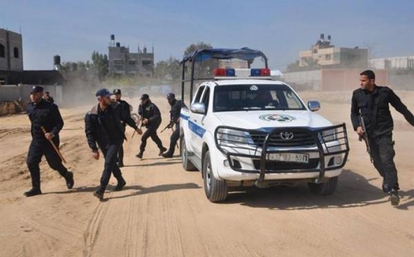 الاستنفار الأمني كامل لشرطة بقطاع غزة