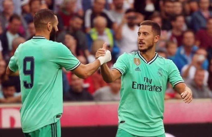 هدف هازارد يحقق الفوز لريال مدريد علي ريد بول