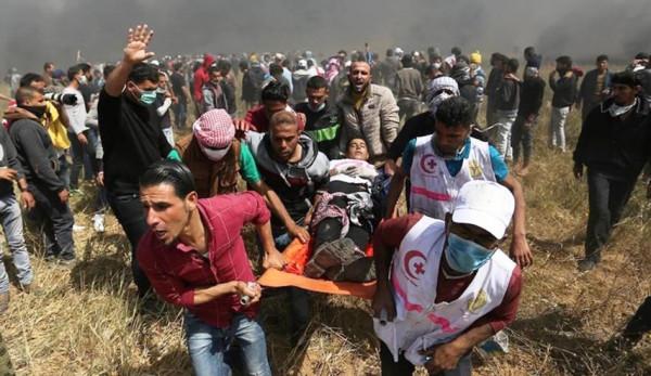 عشرات الاصابات في مسيرات العودة في جمعة لا للتطبيع