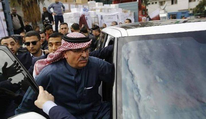 السفير القطري يصل غزة من اجل تقديم المساعدات