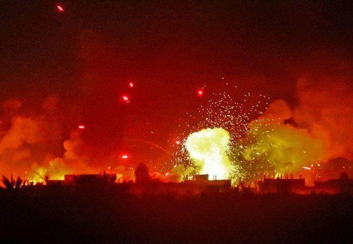 طائرات الاحتلال تشن سلسلة غارات علي مواقع القسام