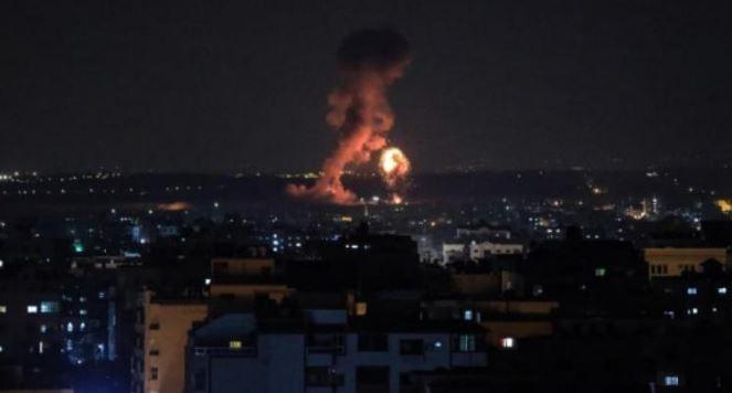 قصف المواقع بغزة بعد اطلاق صواريخ