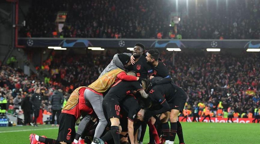 أتلتيكو مدريد يضرب ليفربول بثلاثية ويطيح به خارج المسابقة ويتأهل الي ربع نهائي