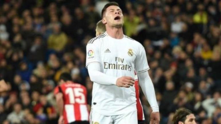 لوكا يوفيتش لاعب ريال مدريد يتعرض للاصابة