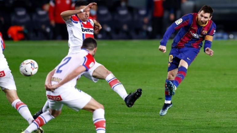 برشلونة لاكتساح الافيس بخماسية قبل مواجهة باريس في الابطال