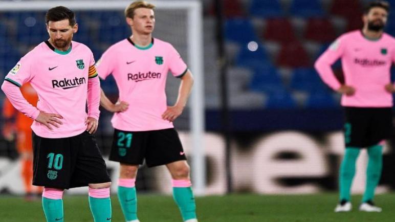 برشلونة يتعادل مع ليفانتي ويفقد المنافسة على صدارة الليغا