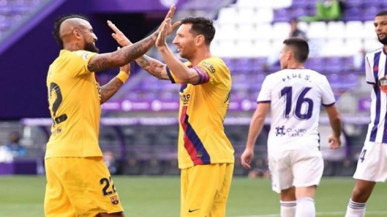 برشلونة يستمر بملاحقة ريال مدريد يحقق الفوز على بلد الوليد