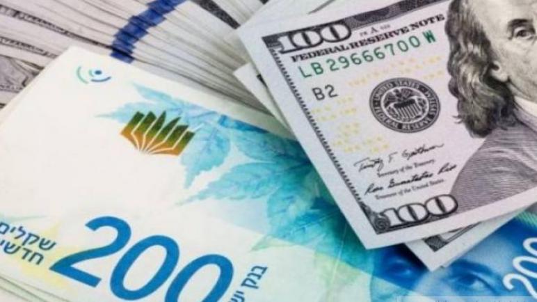 سعر الدولار يصعد مقابل الشيكل
