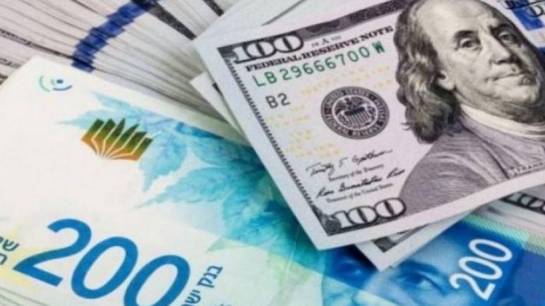 الدولار ينخفض مقابل الشيكل