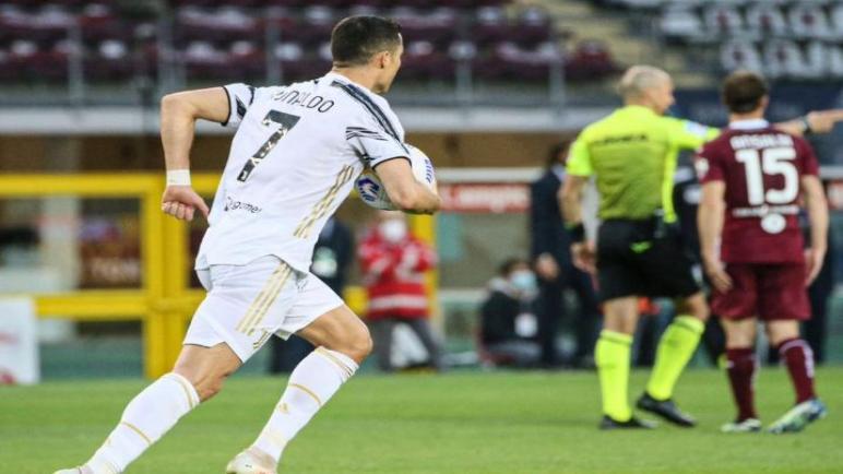 رونالدو ينقذ اليوفي من هزيمة ضد تورينو