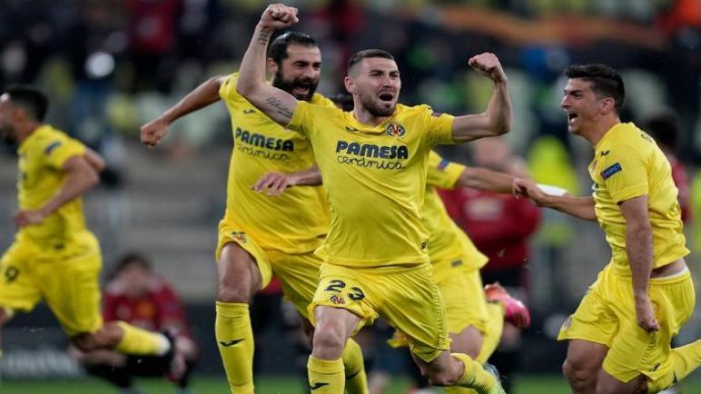 فياريال بطلا للدوري الاوروبي بعد تحقيق الفوز علي مانشستر يونايتد