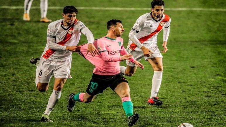 برشلونة يتجاوز رايو فاليكانو بهدفين ويتأهل لربع نهائي كأس اسبانيا