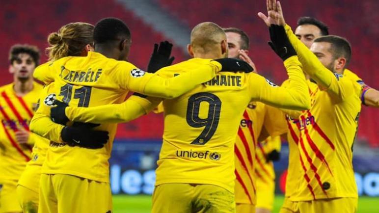 برشلونة يحقق انتصار على فرينكفاروزي بثلاثية
