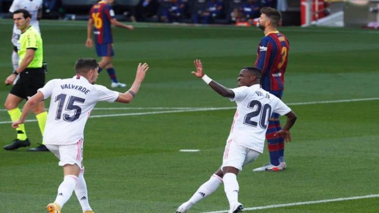 ريال مدريد يطيح ببرشلونة في الكامب نو بثلاثية