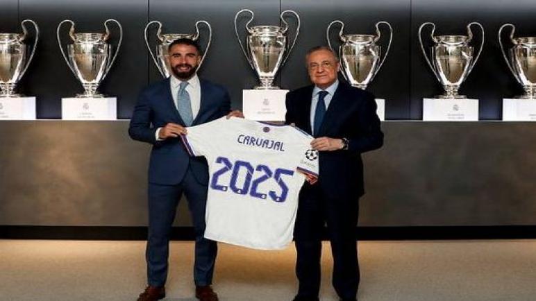 داني كارفاخال يجدد عقده مع ريال مدريد حتي 2025