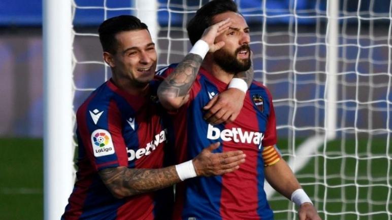 ليفانتي يوقف ريال مدريد بثنائية ويبعده تماما عن المنافسة على صدارة الليغا