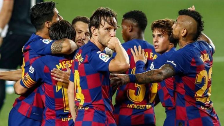 برشلونة يهزم أتلتيك بيلباو بشق الانفس ويتصدر الليغا مؤقتا