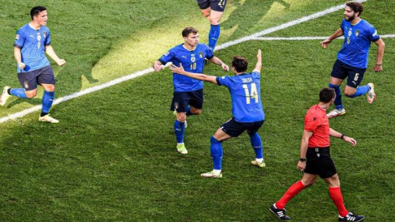 ايطاليا تهزم بلجيكا و تحرز المركز الثالث في دوري الامم الاوروبية