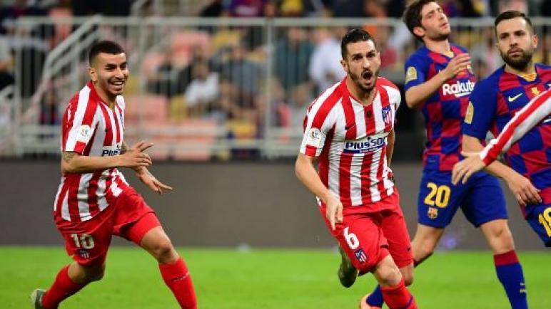 مواجهة قوية علي ملعب الكامب نو بين برشلونة واتلتيكو مدريد