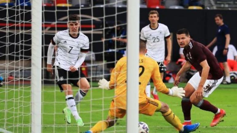 المانيا تنتصر علي لاتفيا بسباعية وتستعد لليورو