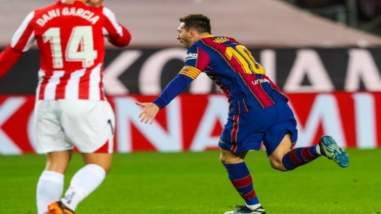 برشلونة ينتزع الفوز من أتلتيك بيلباو ويرتقي للمركز الثاني