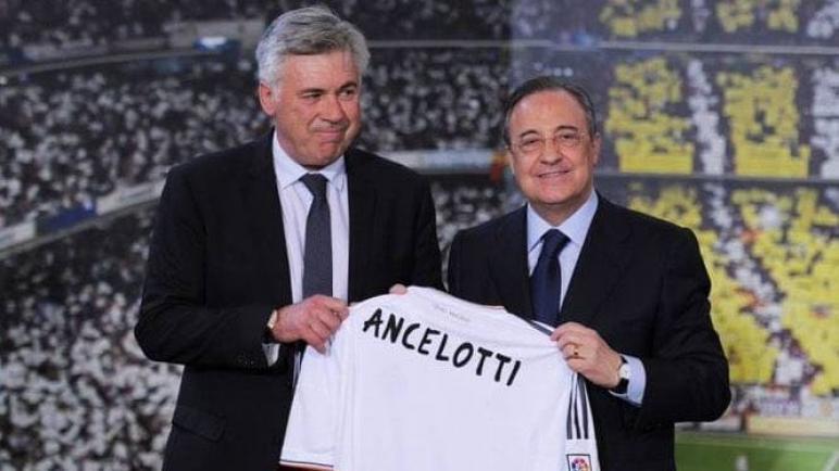 كارلو انشيلوتي يعود الي تدريب ريال مدريد بعقد لمدة ثلاثة مواسم